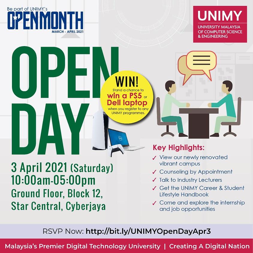 UNIMY Open day 3 April (1)