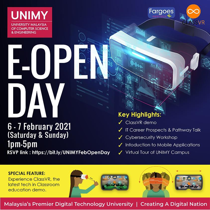 UNIMY Open day 6,7 February