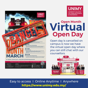 March 2020 UNIMY Open Month