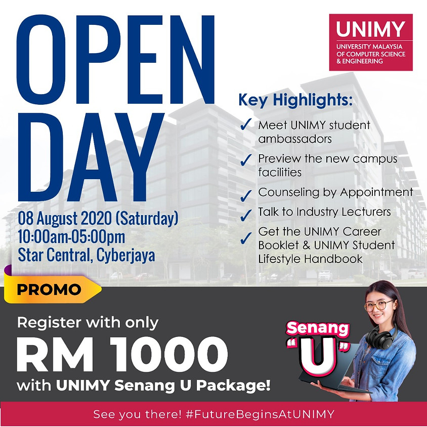 UNIMY Open day 8 August