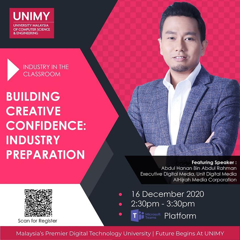 Building Creative Confidence: Industry Preparation