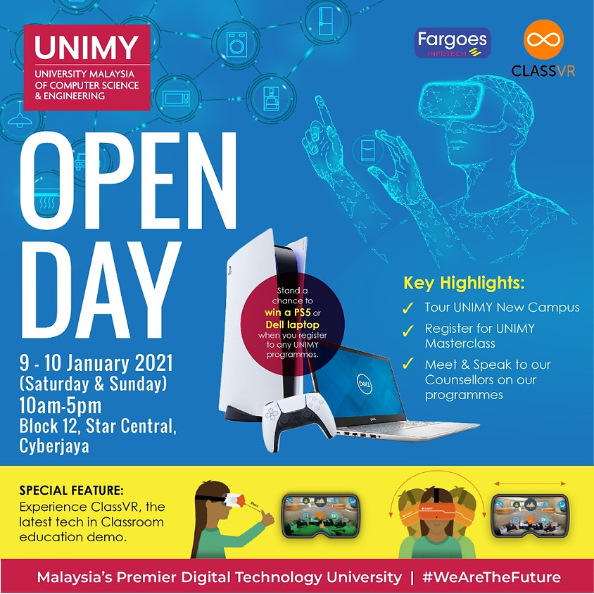 UNIMY Open day 9,10 January