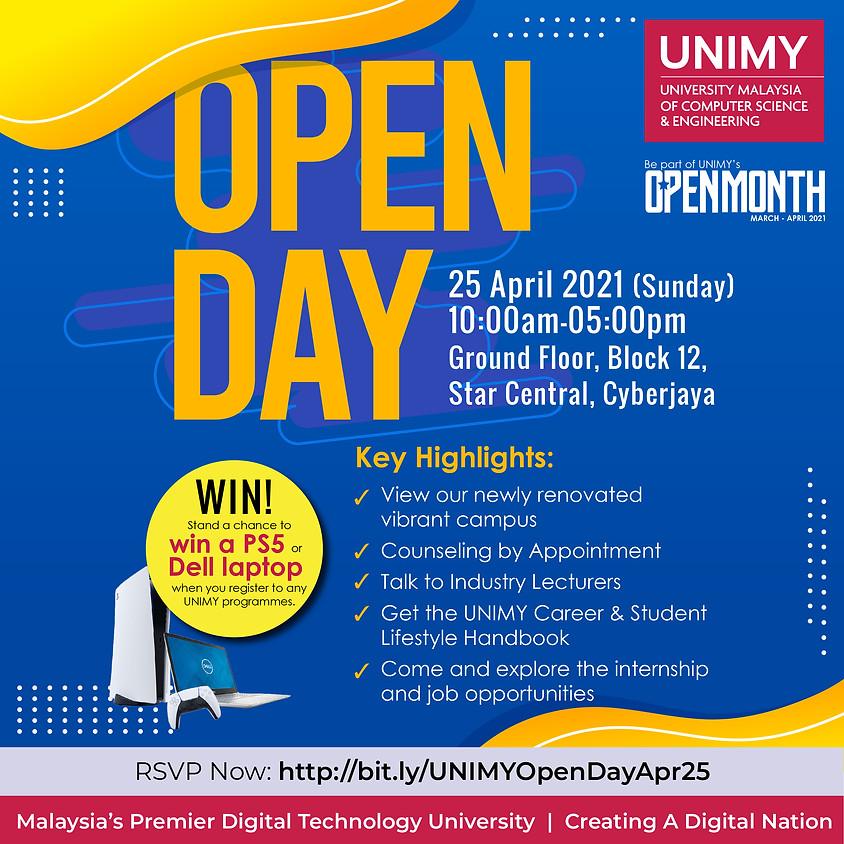 UNIMY Open day 25 April