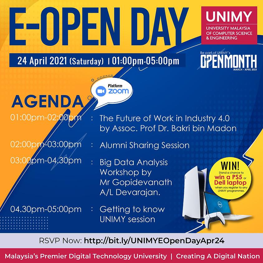 UNIMY E-Open day 24 April