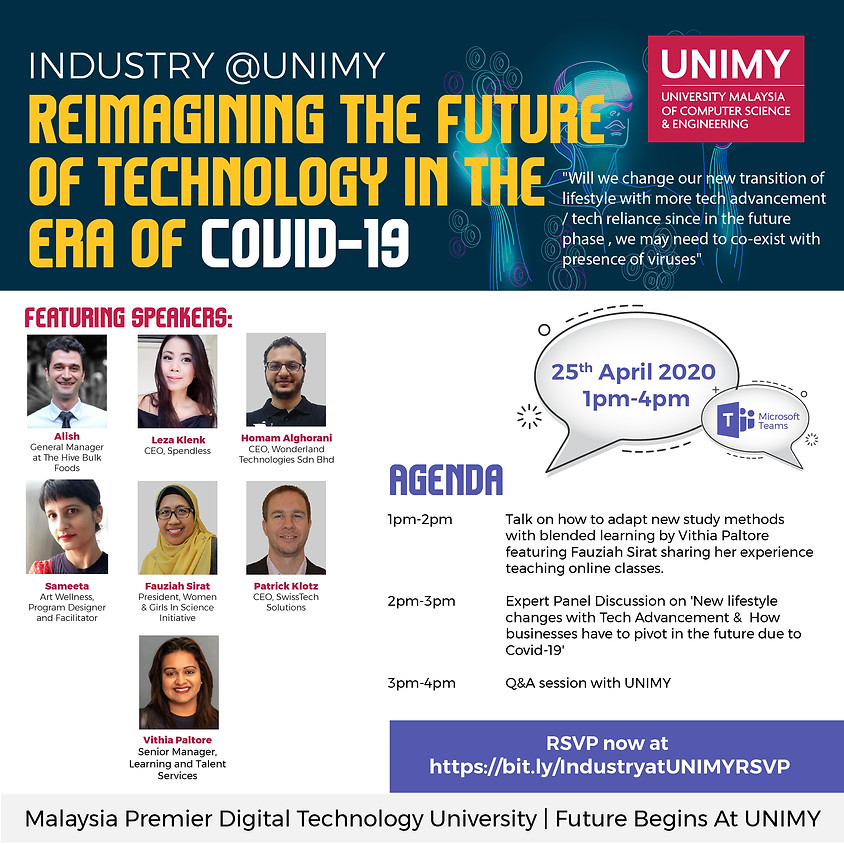 Industry@UNIMY : Reimagining the Future of Technology in the era of Covid-19