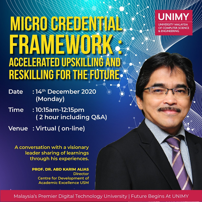 Micro Credential Framework: Accelerated upskilling and reskilling for the future