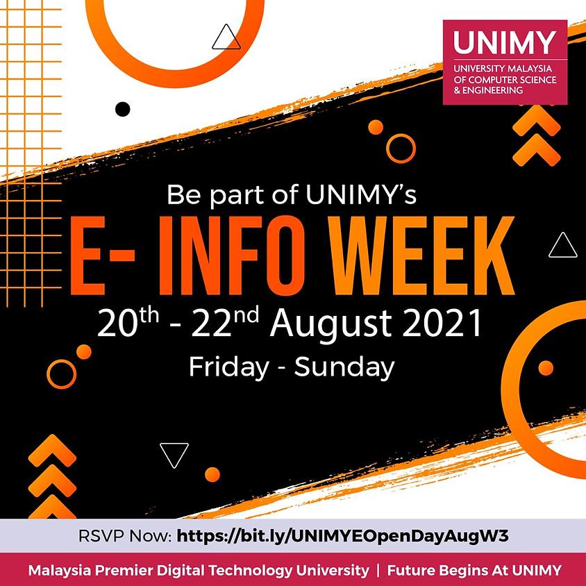 E-Info Week 20 - 22 August 2021