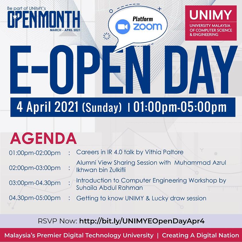 UNIMY E-Open day 4 April