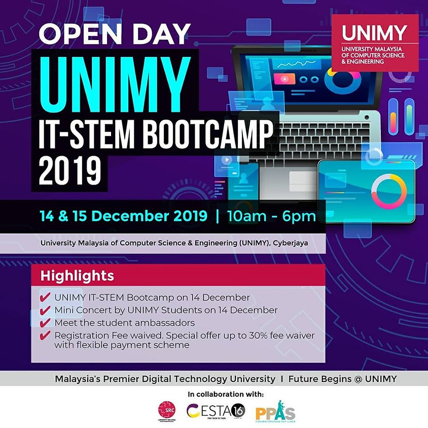 Open Day 14,15 Dec