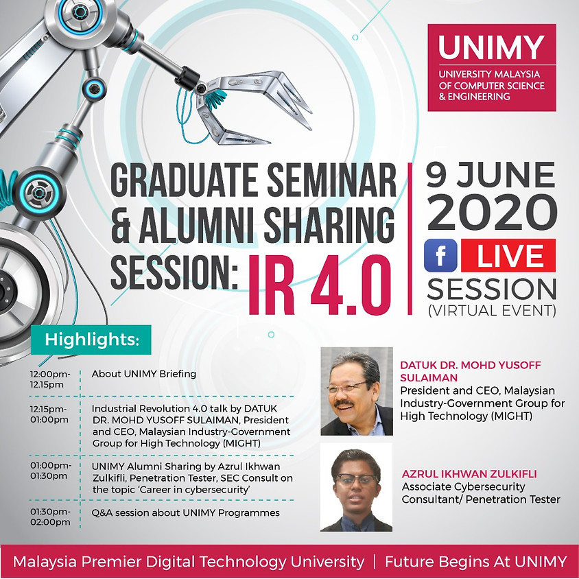 Graduate Seminar & Alumni Sharing Session