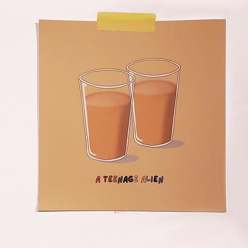 Anime-Style Mini Drink Art Print