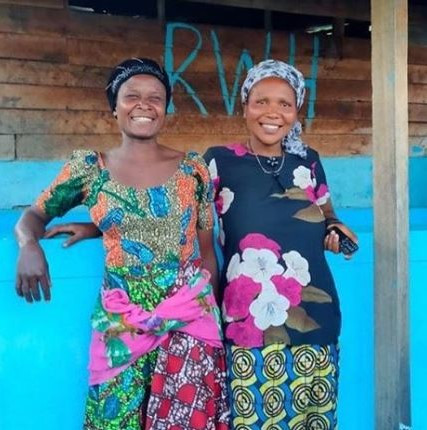 Mela Musa & Claudine Mwegegabe, coffee farmers of Rebuild Women's Hope DRC.