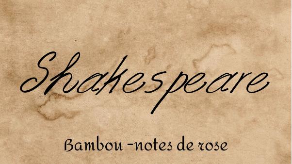 Bougie parfumée - Shakespeare