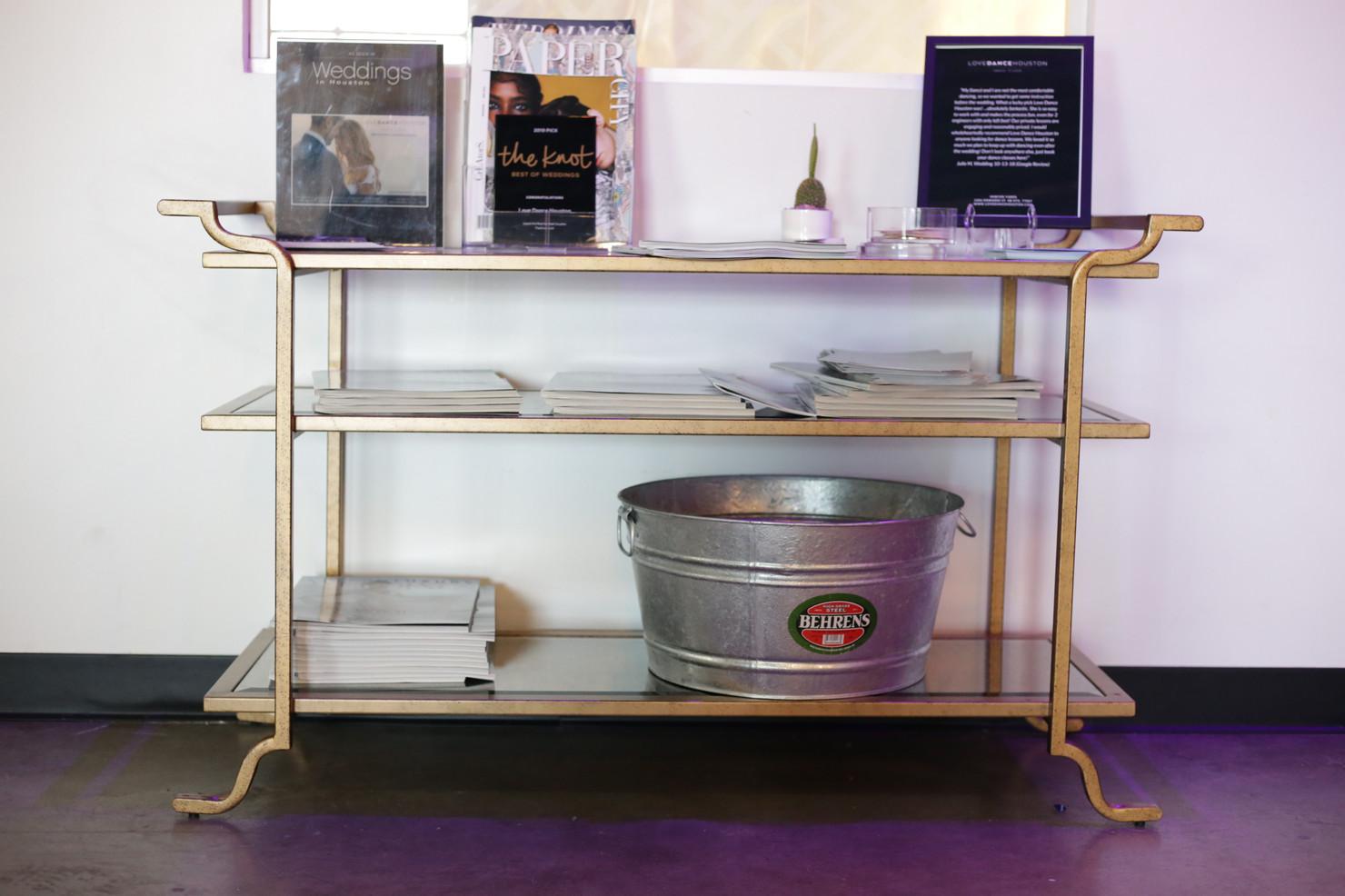 Gold Drink Serving Stand Buffet