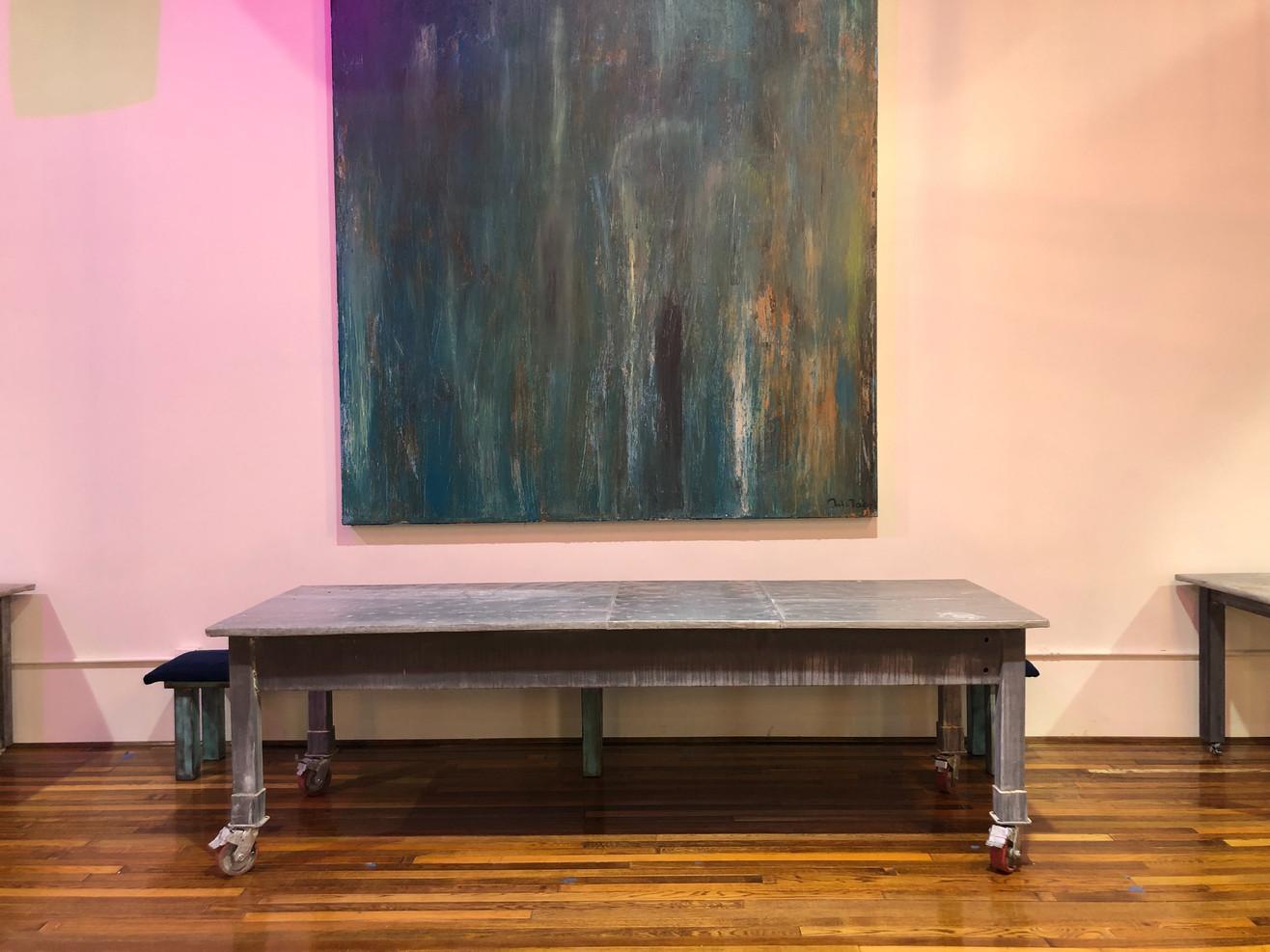 92 x 44 Zinc Buffet Table