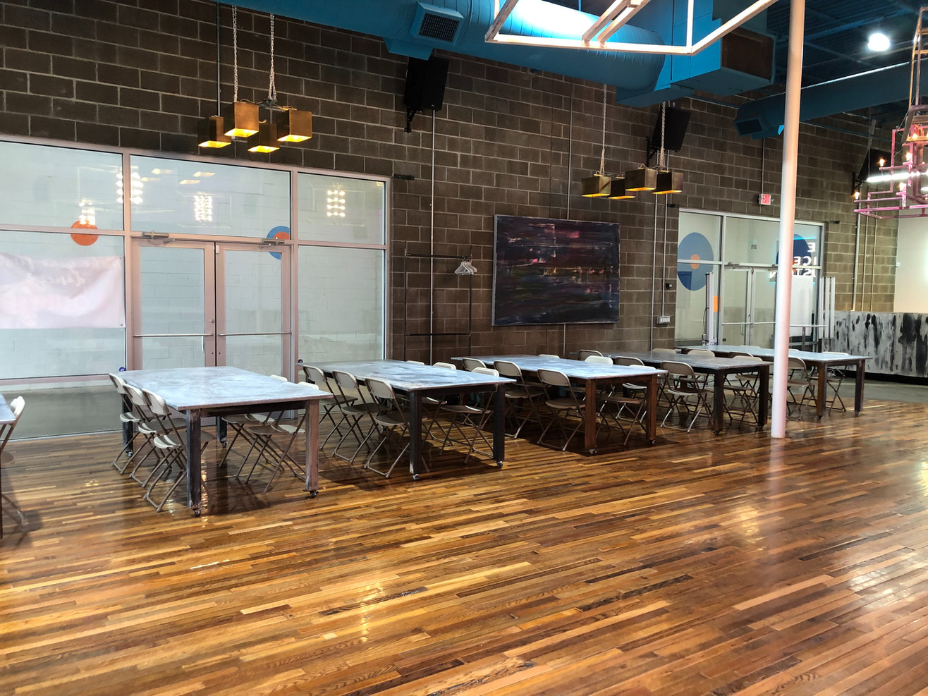 92 x 44 Zinc Tables with steel base