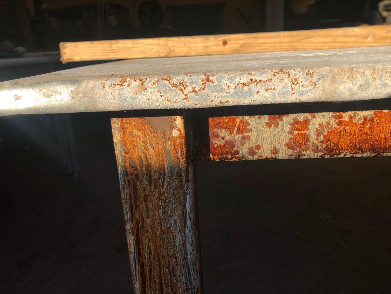 Zinc Table Close Up