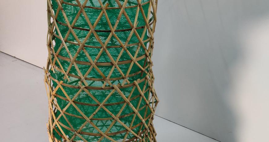 freestanding warka water prototype