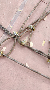 tensile cables + U-clips