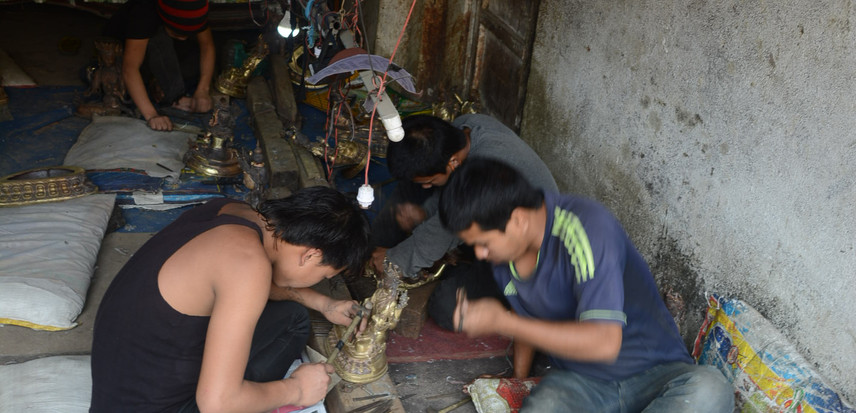 Young men (from Terai region of Himalayas) are generally seen in this line of work