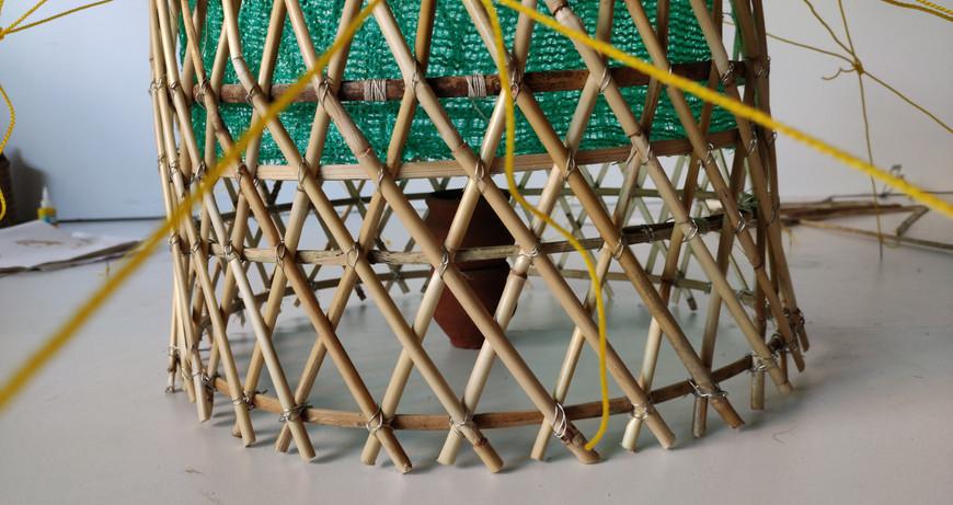 matka filter at base, filters percolating rainwater