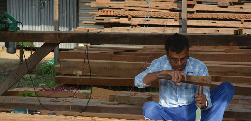 shaping wood