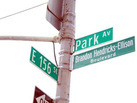 BRONX TIMES: Street renamed for college-bound gunfire victim
