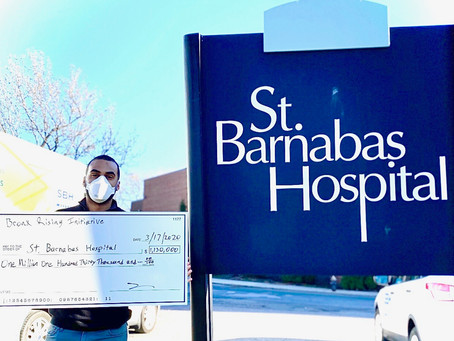 Bronx Rising Initiative Presents $1.1 Million for St. Barnabas Hospital