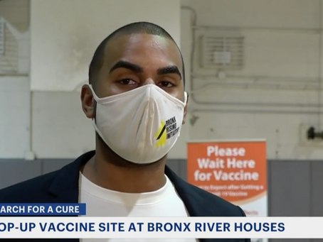 NEWS12 The Bronx: Bronx Rising Initiative Turns NYCHA Into Pop-up Vaccine Site for Senior Tenants
