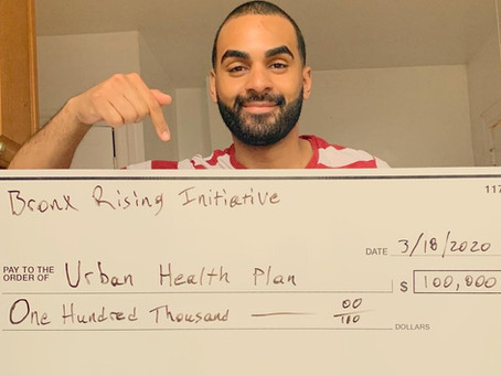 Bronx Rising Initiative Announces $100,000 Donation for Urban Health Plan to Fight COVID-19