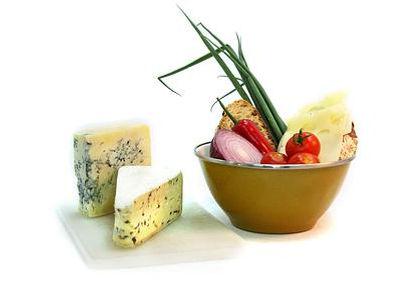 Roquefortost med grønnsaker