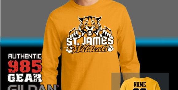 "St. James ""Cat Claws"" Gold Longsleeve T-Shirt"