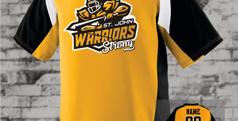 Warriors Strong Gold Nitro Dry-Fit Jersey