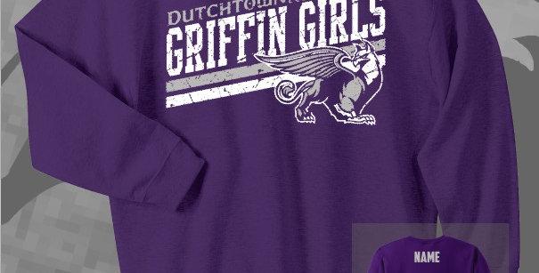 Griffin Girl Cotton Crew Sweatshirt