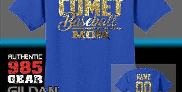 SCC Baseball Mom Foil T-Shirt
