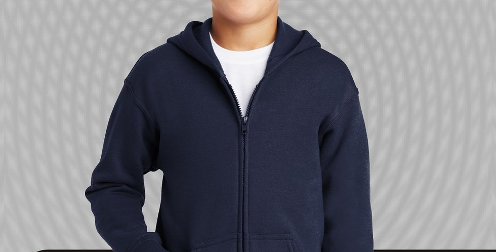Gildan Full Zip Hooded Sweatshirt Jacket