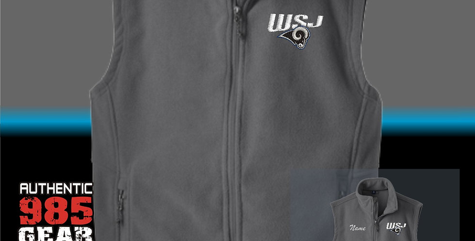 WSJ Ladies Grey Fleece Vest
