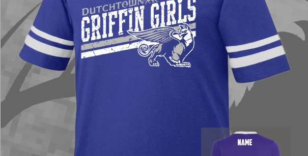 Griffin Girl Stripped Sleeve T-Shirt