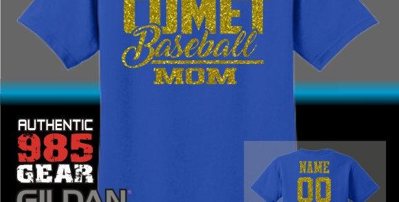 SCC Baseball Mom Glitter T-Shirt