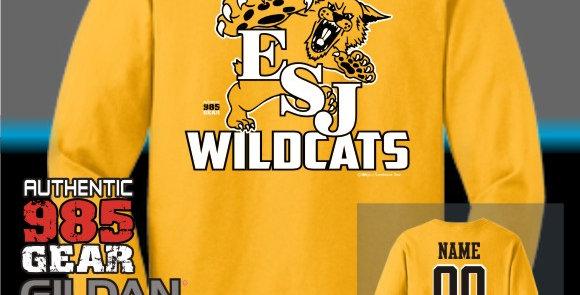 """ESJ """"Gold Grass"""" Gold Longsleeve T-Shirt"""
