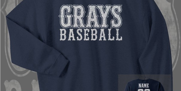 Gray's Baseball Glitter Navy Crewneck Sweat