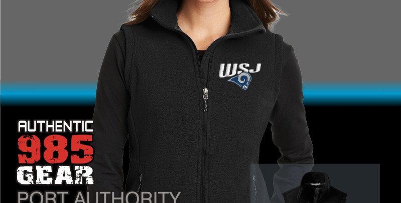 WSJ Ladies Black Fleece Vest