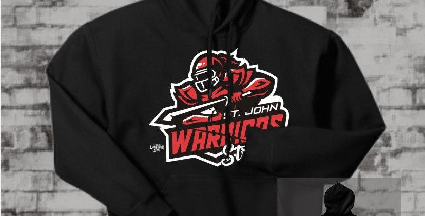 Warriors Strong Black Hooded Sweatshirt