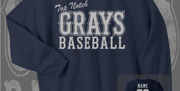 Gray's Baseball Navy Crewneck Sweat