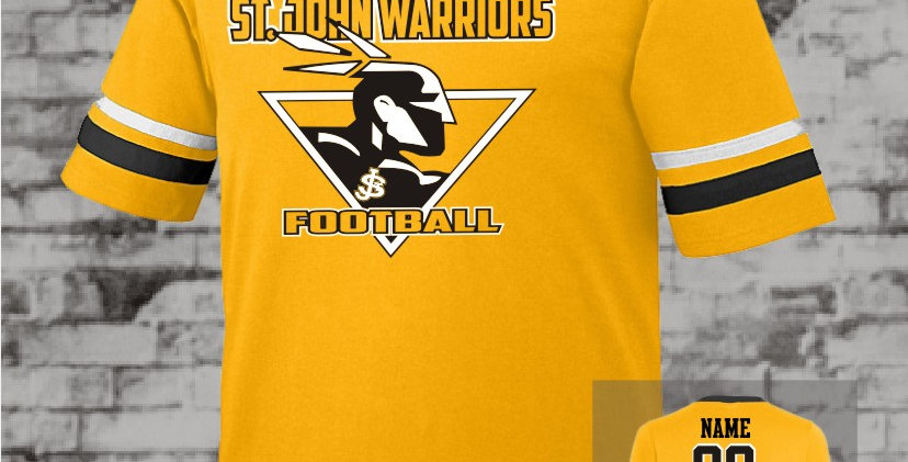 Warriors Gold Stripe Sleeve Jersey