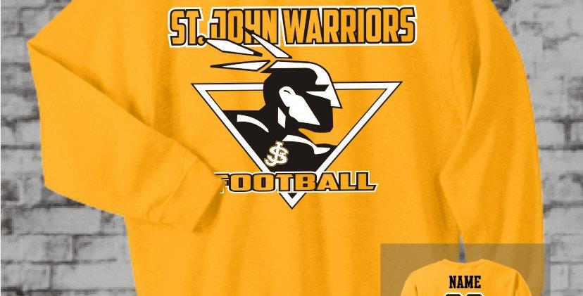 Warriors Gold Crew Sweatshirt