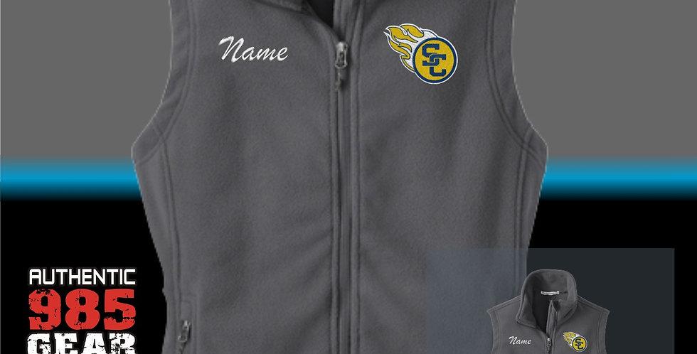 SCC Ladies Grey Fleece Vest