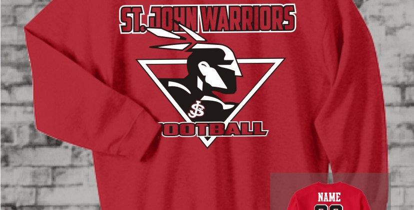 Warriors Red Crew Sweatshirt