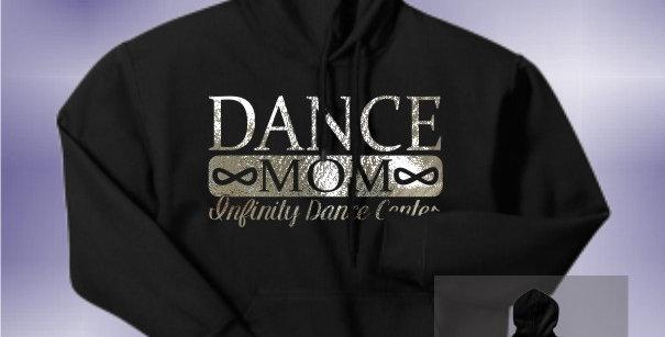 Infinity Dance Mom Foil Black Hoodie