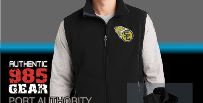 SCC Mens Black Fleece Vest